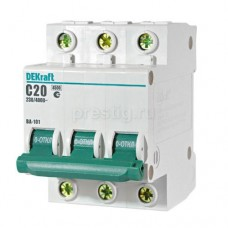 Автоматический выключатель ВА 101-3Р-020А-С