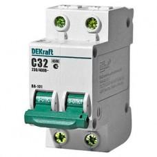 Автоматический выключатель 2Р 32А С 4,5кА ВА101-2Р-032А-С