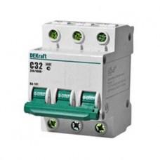 Автоматический выключатель 3Р 32А С 4,5кА ВА101-3Р-032А-С