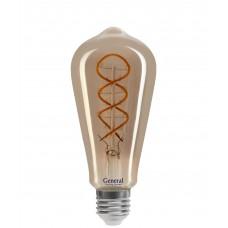 Светодиодная лампа GLDEN-ST64DSS-6-230-E27-1800 1/5/20