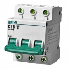 Автоматический выключатель 3Р 25А С 4,5кА ВА101-3Р-025А-С